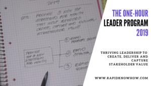 The One-Hour Leader Program 2019